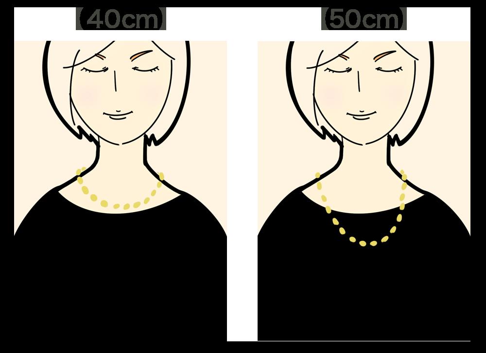 ネックレスの長さ
